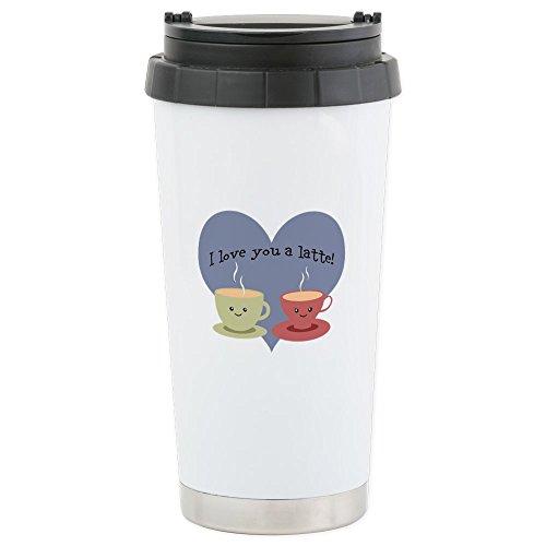 CafePress - I Love You A Latte Travel Mug - Stainless Steel Travel Mug Insulated 16 oz Coffee Tumbler