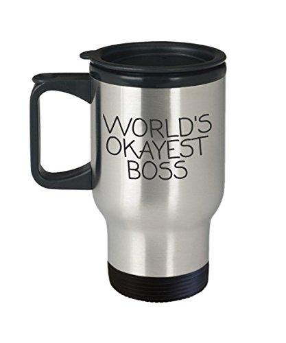 Worlds Okayest Boss Travel Mug
