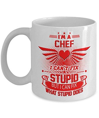 Chef Mug - Chef Coffee Mug - Chef Travel Mug - Chef Mug Funny - Funny Chef Coffee Mug - Chefs Mug - Funny Gifts As Seen on T Shirt - 11 Oz White Ceram