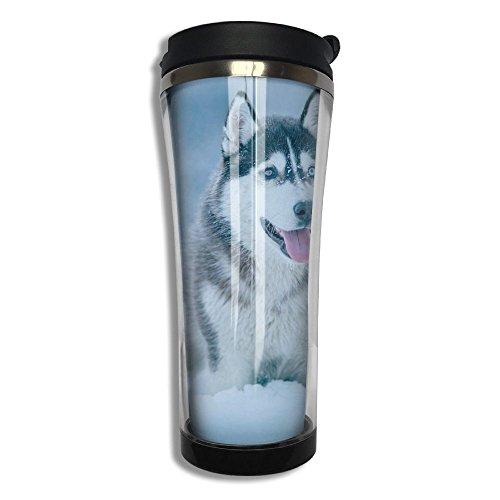 3D Printed Stainless Steel Thermal Cup Loyal Huskie Husky Pup Large Capacity Travel Mug Portable Coffee Glass