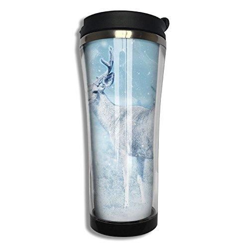 3D Printed Stainless Steel Thermal Cup Moose Elk Deer Dream Large Capacity Travel Mug Portable Coffee Glass
