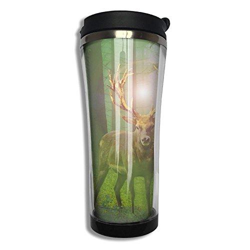 3D Printed Stainless Steel Thermal Cup Moose Elk Deer Hope Large Capacity Travel Mug Portable Coffee Glass