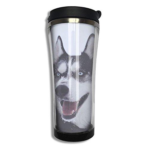 Original Stainless Steel Thermal Cup Logy Husky Dog Large Capacity Travel Mug Portable Coffee Glass