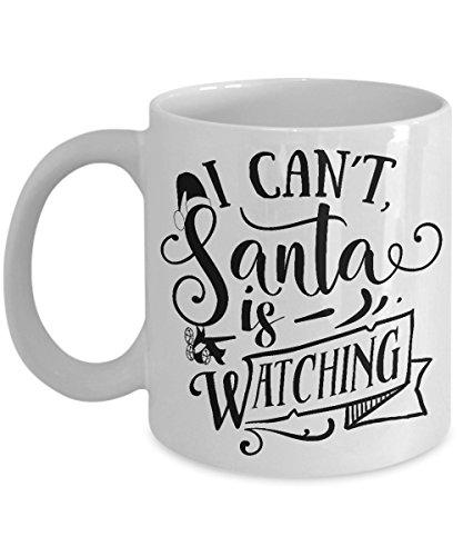 Christmas Coffee Mug - Cute Santa Mug - Secret Santa Gift