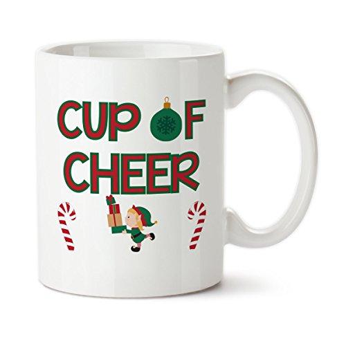 Coffee Mug Cup Of Cheer Christmas Mug I Love Christmas Custom Mug Christmas Time Coffee Elf Cute Mug Cute christmas mug 11oz 15oz gift