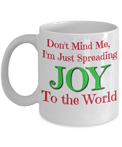 Cute Christmas Mug - Joy to the World - Large Christmas Mug 15 ounce available
