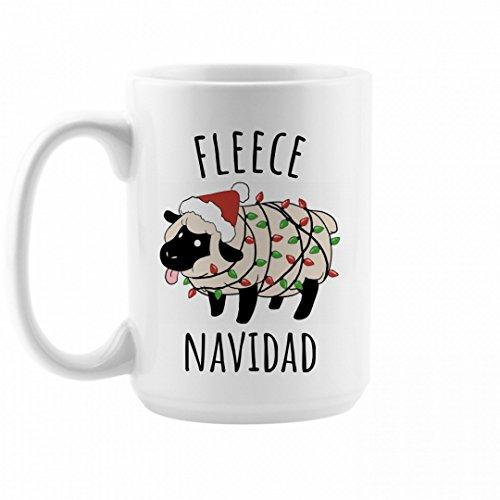 Fleece Navidad Cute Christmas Mug 15oz Ceramic Coffee Mug