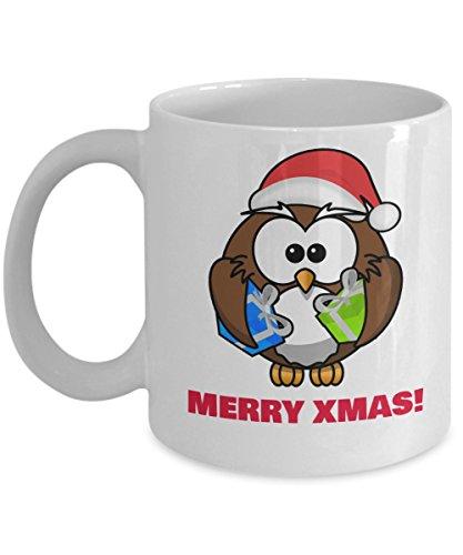 Super Cute Christmas Owl Coffee Mug For Gifts