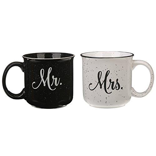 Travel Coffee Ceramic Mug Funny Tea Cup Enamel Paint Finish Porcelain 14oz by CYPRESS£¬ 2 Pack