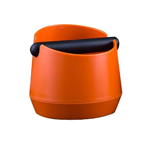 Dovewill ABS Coffee Knock Box Espresso Grind Waste With Rubber Handlebar Orange  Black - Orange 148cm