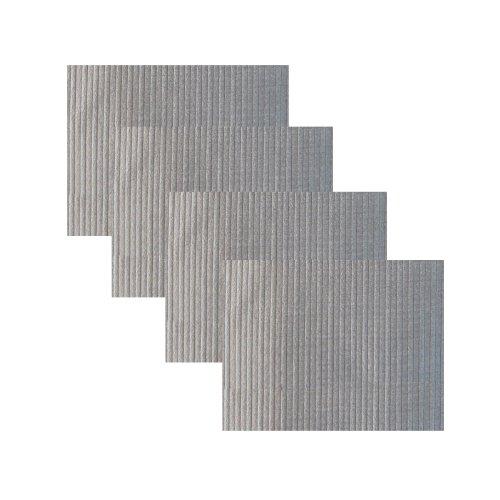 Wildflower Linen Bunya Silver Placemat Set of 4