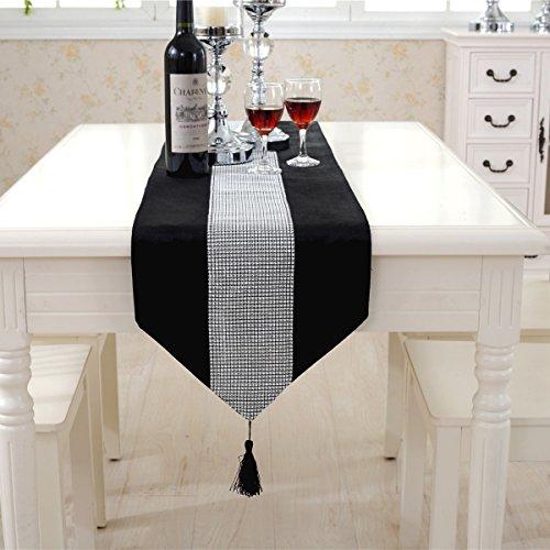 Luxury table black placemats velvet set of 4