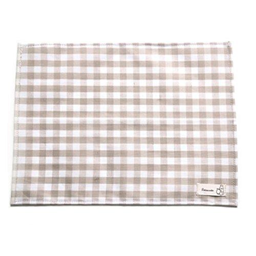 Top Estore Set of 4 Creative Waterproof Plaid Placemats Fabric Decoration light brown