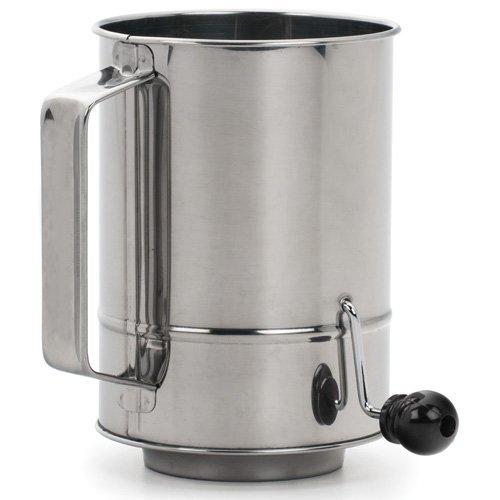 Rsvp Endurance Crank Style Flour Sifter, 5-cup