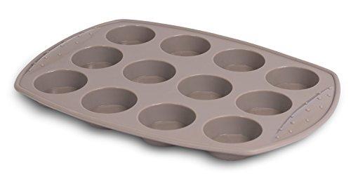 Internet's Best Silicone Mini-Muffin Pan  12 Cup  Cupcake Tray  Cake Baking Mold  BPA Free  Dishwasher Safe