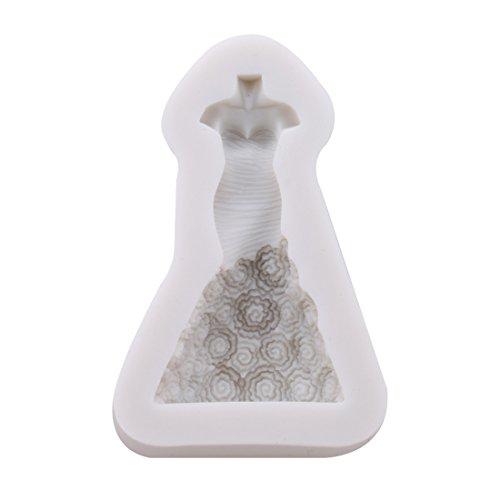 UNKE 3D Princess Dress Skirt Silicone Chocolate Fondant Candy Mould Christmas Wedding Mold Cake Baking Tools