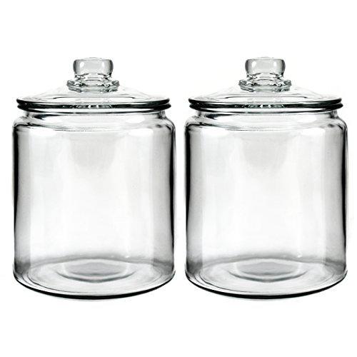 Anchor Hocking Heritage Hill Glass 05 Gallon Storage Jar Set of 2