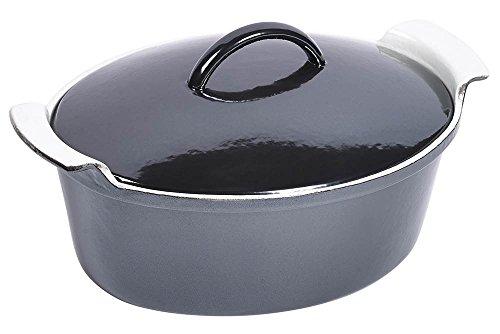 4-Quart Oval Dutch Oven in Black