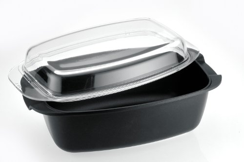 Caroni A610432 Cast Oval Dutch-Oven with Glass Lid