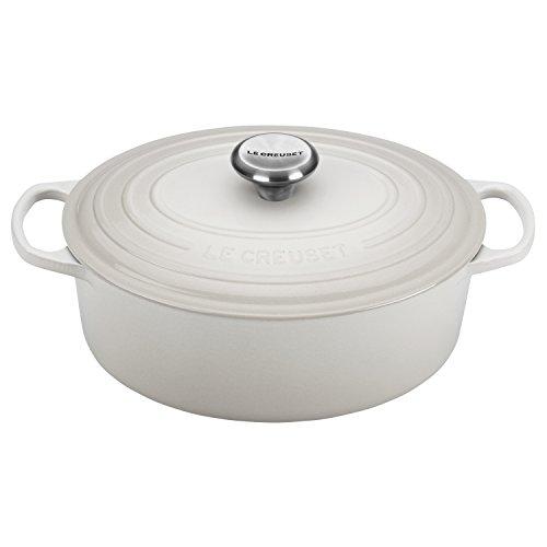 Le Creuset Signature White Enameled Cast Iron 5 Quart Oval Dutch Oven