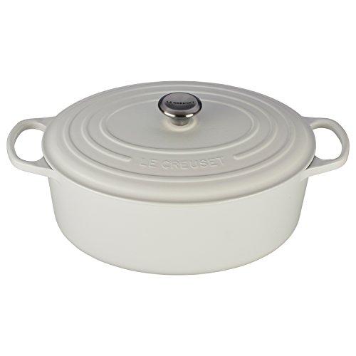 Le Creuset Signature White Enameled Cast Iron 95 Quart Oval Dutch Oven
