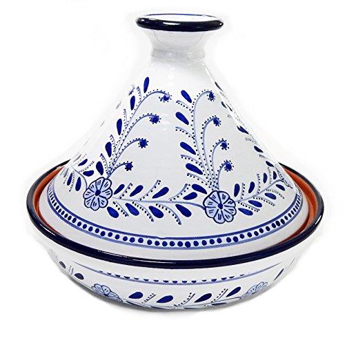Le Souk Ceramique Azoura Cookable Tagine 12 BlueWhite