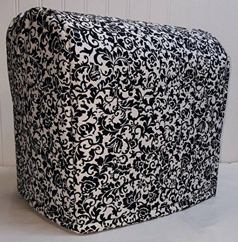 Black White Floral Damask Kitchenaid Tilt Head Stand Mixer Cover Floral Damask
