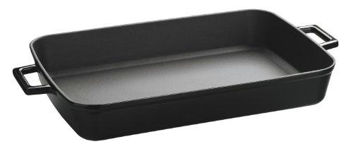 Lava Signature Enameled Cast-iron - 5-1/4 Quart - 10 X 16 Inch Roasting - Baking Pan, Obsidian Black