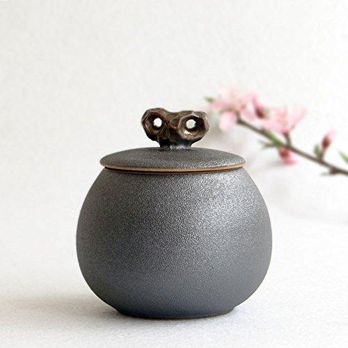 Ceramic tea caddy tea leaf set tea canister teapot box dried fruit cans black
