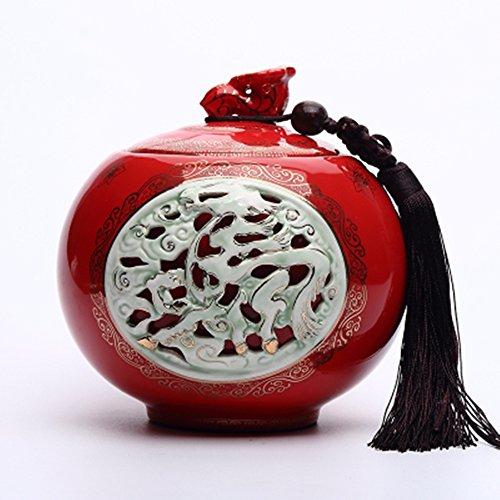 Chinese Ceramic tea caddy tins Tea set Tea service Canister Teapot box