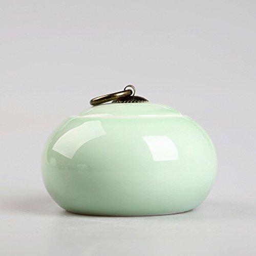 Chinese Ceramic tea caddy tins Tea set Tea service Canister Teapot box Sealed jar white light green blue