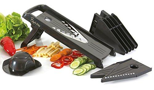 Chef's Way Mandoline Slicer - Professional Kitchen V-slicer + Bonus Recipes - Vegetable & Fruits, Food Cutter,