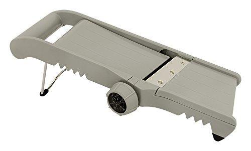 Useful Uh-hc132 Stainless Steel 3 In 1 Adjustable Thickness Mandoline Slicer Julienne, Crinkle Or Flat Slice