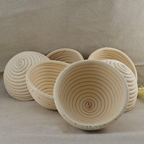 6 Pieces 513CM Round Proofing Basket Banneton BrotformRound Rattan Banneton Brotform Bread Proofing Proving BasketWholesale