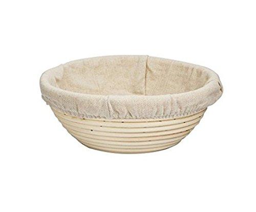 Forsun 1pcs 1025cm Round Banneton Brotform Bread Dough Proofing Rising Rattan Basket Liner