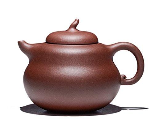 Chinese Yixing Purple Clay Handmade Zisha Teapot Dicaoqing Ni Hulu Tea Pot 370cc