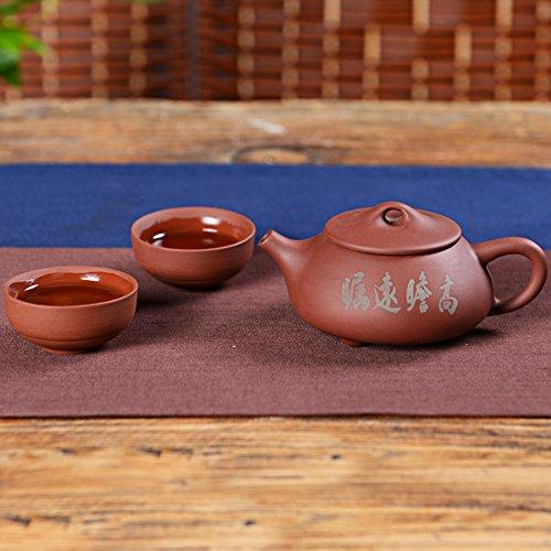 Chinese Yixing Red Clay Handmade Shipiao Tea Pot Zisha Teapot with 2 Cups 1 Pot2 Cups