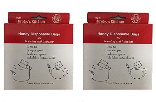 Hiroko's Kitchen Tea Filter Bags Disposable Tea Infuser and Bouquet Garni Bags Set of 60