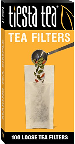 Tiesta Tea Loose Leaf Tea Filters Disposable Tea Infuser Number 2 Size 2 to 4 Cup Capacity 100 Filters