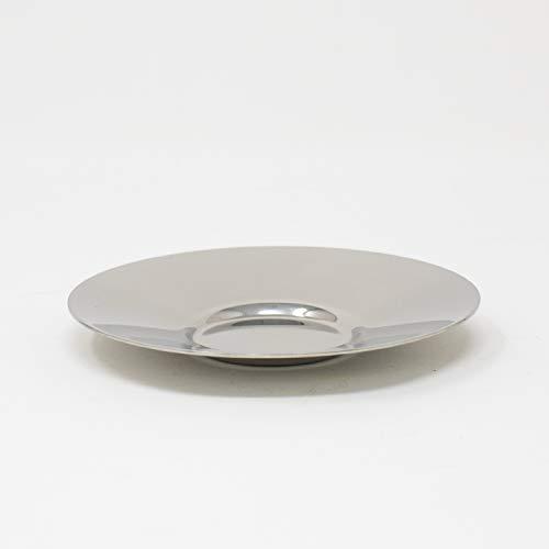 Narin Silver Turkish Tea Glass SaucersSet of 6  Stainless Steel Plain
