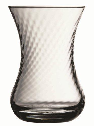 Turkish Tea Glasses Large Set of 6 - Whirling Design