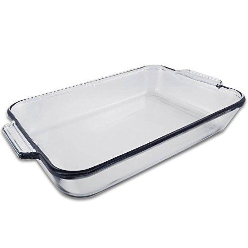 "5 Quart - Oblong Clear Glass Baking Dish - 11"" X 15"""