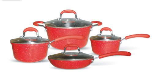 Gourmet Chef 8-Piece Non-Stick Ceramic Cookware Set