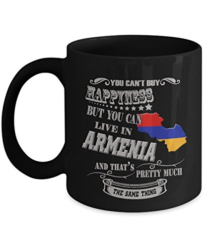 Armenia Mug Armenian Coffee Beer Mugs Cute Gifts For Your Dad Mom Friend 11 Ounce Black Ceramic Cup