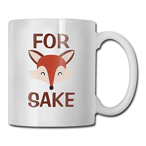 For Cartoon FOX SAKE White Mug Personalized Mug Design Ceramic CoffeeTeaMilk Mug