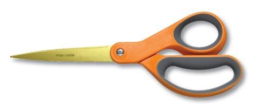 Fiskars 8 Inch Premier Softgrip Titanium Straight Scissors (01-004244j)