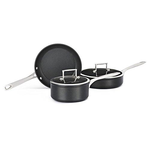 KitchenAid KCH2S5BKM Professional Hard Anodized Nonstick 5-Piece Cookware Set - Black