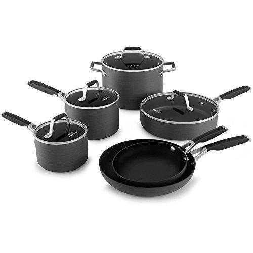 Select by Calphalon Hard-Anodized Nonstick 10-piece Cookware Set Black