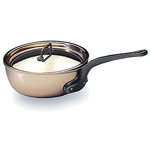 Matfer Bourgeat Saucier Pan With Lid 625 Copper 373116