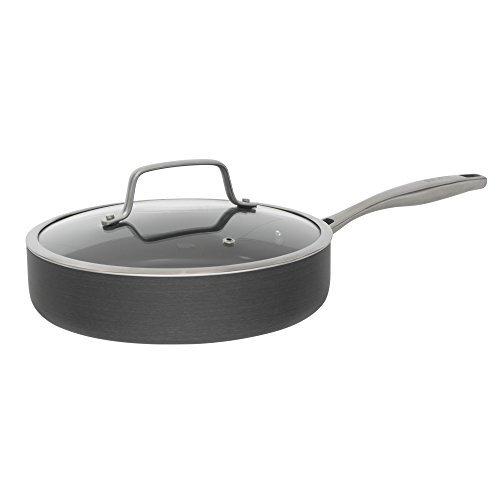 Bialetti Ceramic Pro Hard Anodized Nonstick Deep Saute Pan 11 Gray by Bialetti
